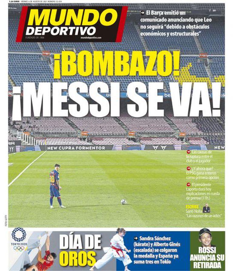 Las portadas de la prensa de España, con Messi entre los grandes titulares