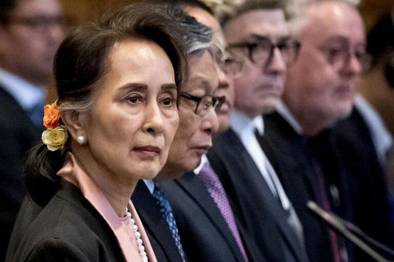 Foto de archivo de Aung San Suu Kyi, durante una comparecencia en La Haya sobre los rohinyás