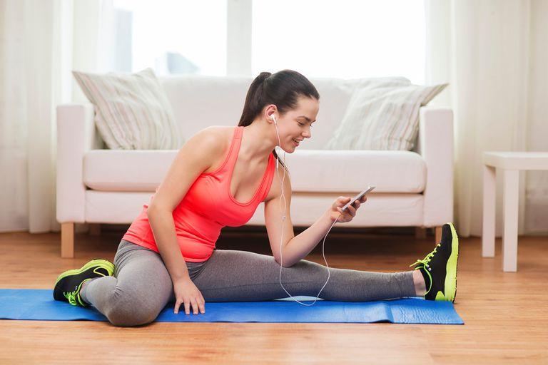 Imagen ilustrativa de ejercicios en casa.