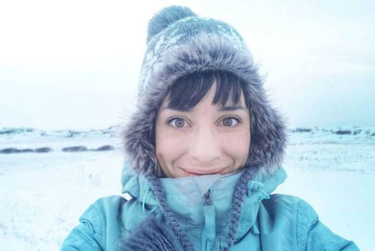 Cuando llegó al Ártico, comenzaron las noches polares donde todo es oscuridad las 24 horas.