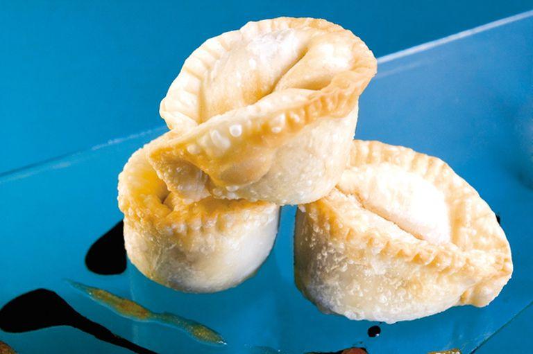 Frituras de peras con nuez