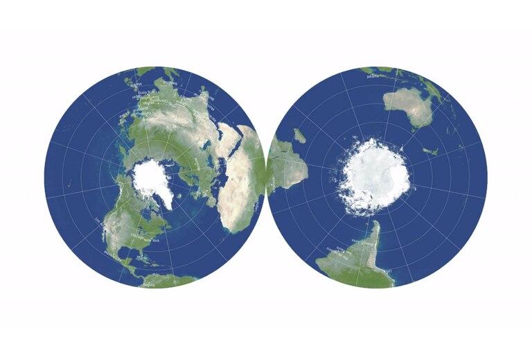 El revolucionario mapa de disco de doble cara minimiza los seis tipos de distorsiones del mapa