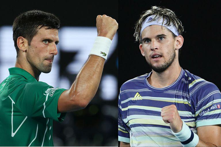 Novak Djokovic y Dominic Thiem, mano a mano