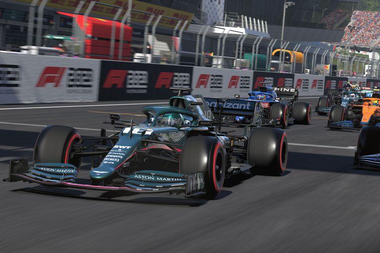 Una vista del videouego F1 2021