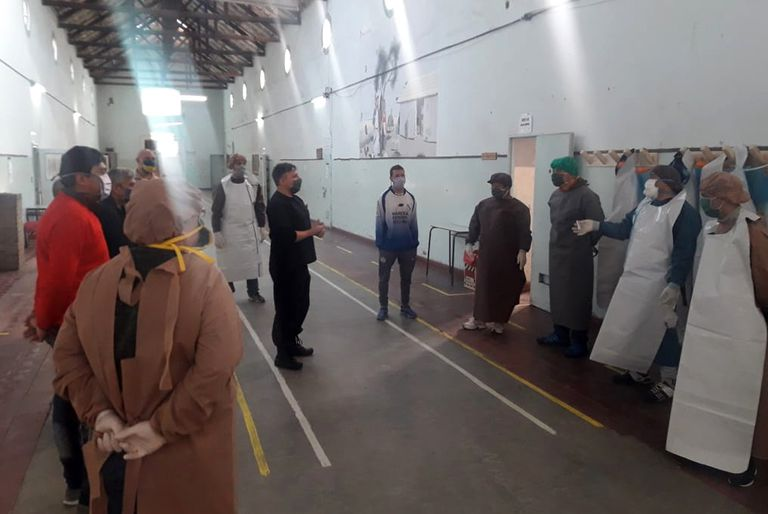 Un equipo de 14 presos se capacitó para asistir a los enfermeros penitenciarios en caso de que haya un brote de contagio de coronavirus