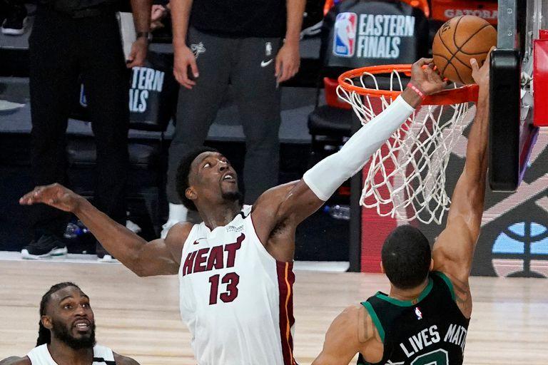NBA. Máxima defensa: la increíble tapa de Adebayo que le dio el triunfo a Miami