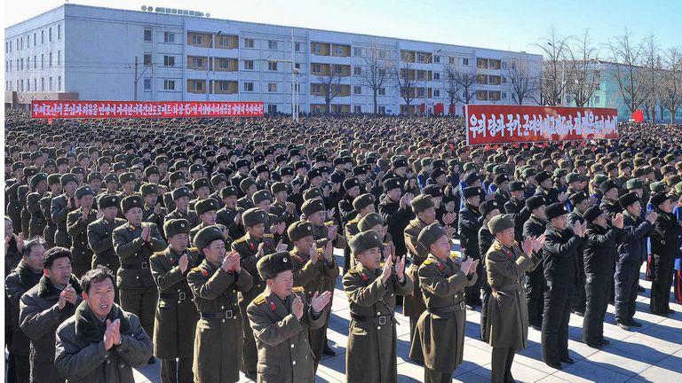 Las muestras de poder en Pyongyang son muy frecuentes