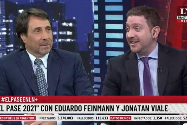 Jony Viale sorprendió a Feinmann al ponerle un apodo a Tolosa Paz