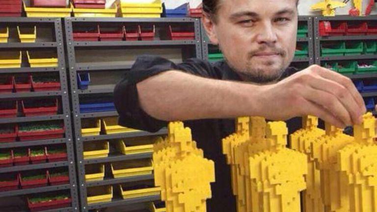 Si no le dan el Oscar, Leonardo DiCaprio construye unos Legos