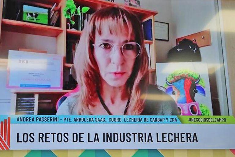 Andrea Passerini es presidenta de La Arboleda SAAG, que desarrolla la actividad tambera en Carlos Casares, además es coordinadora de Lechería de Carbap