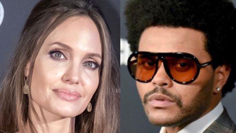 Rumores de romance entre Angelina Jolie y The Weeknd tras una cita en Los Ángeles