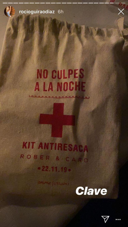 El kit antiresaca que cada invitado se llevó de la fiesta de García Moritán y Ardohain
