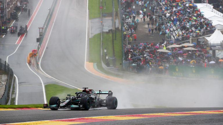 Lewis Hamilton en el circuito de Spa-Francorchamps, uno de los más veloces