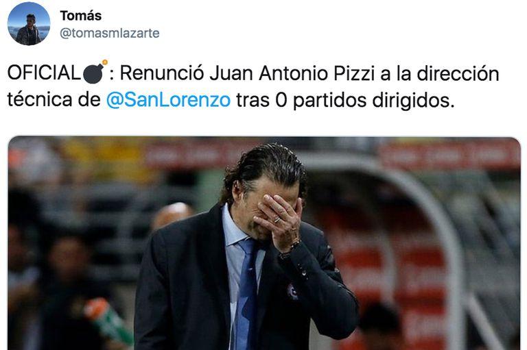 """""""La renuncia de Pizzi"""", los memes tras la caída del Ciclón en la Copa Argentina"""