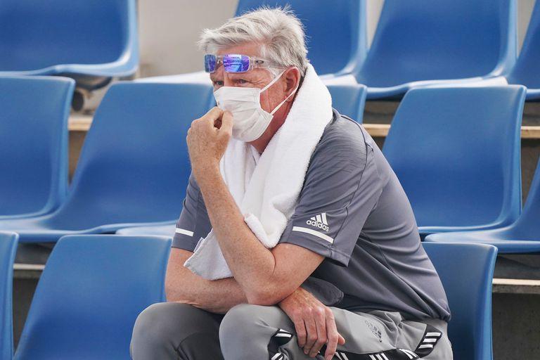 Un espectador siguió así la qualy del Open australiano