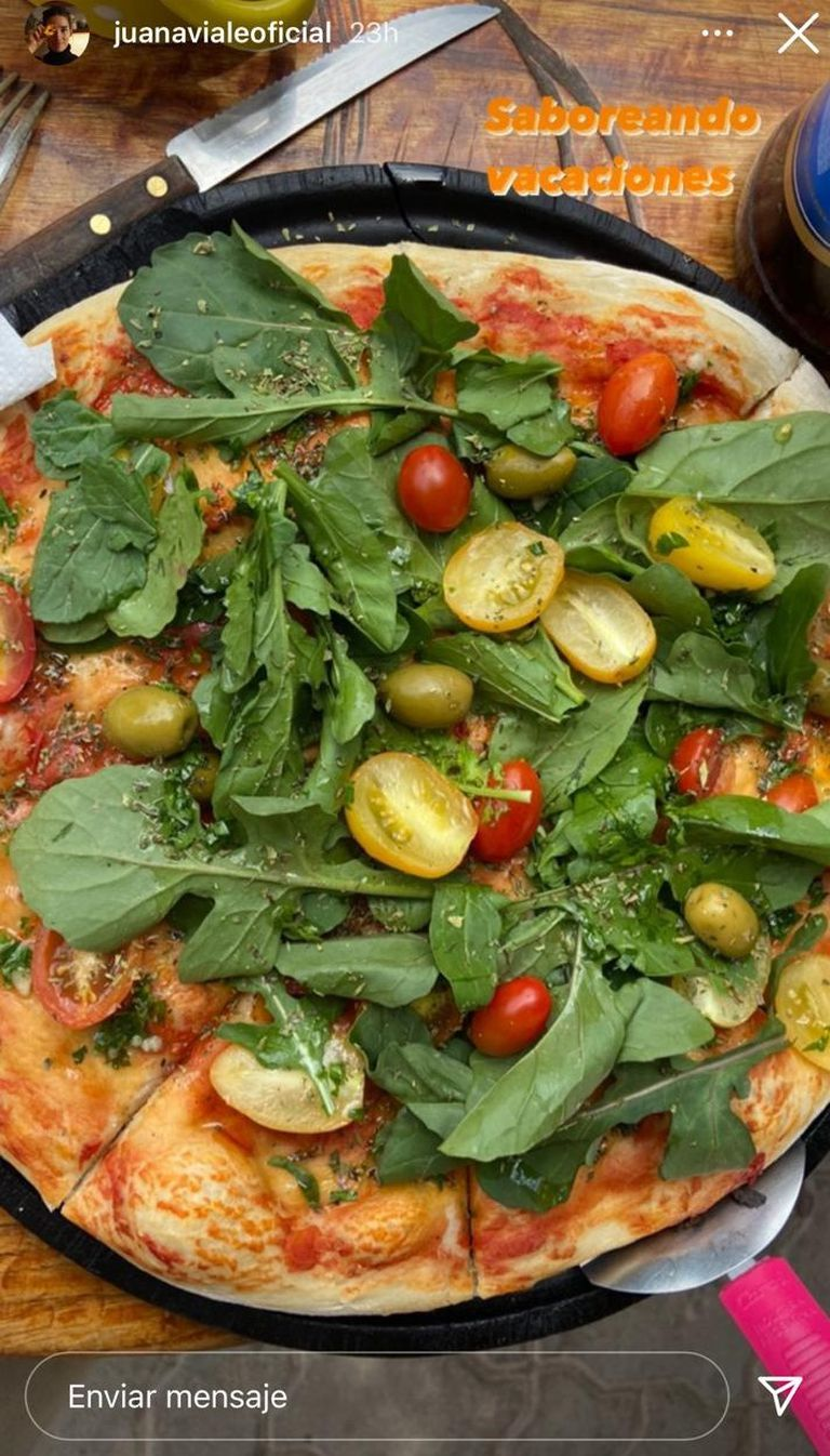 La imagen de la pizza vegana que compartió la nieta de Mirtha Legrand con sus seguidores