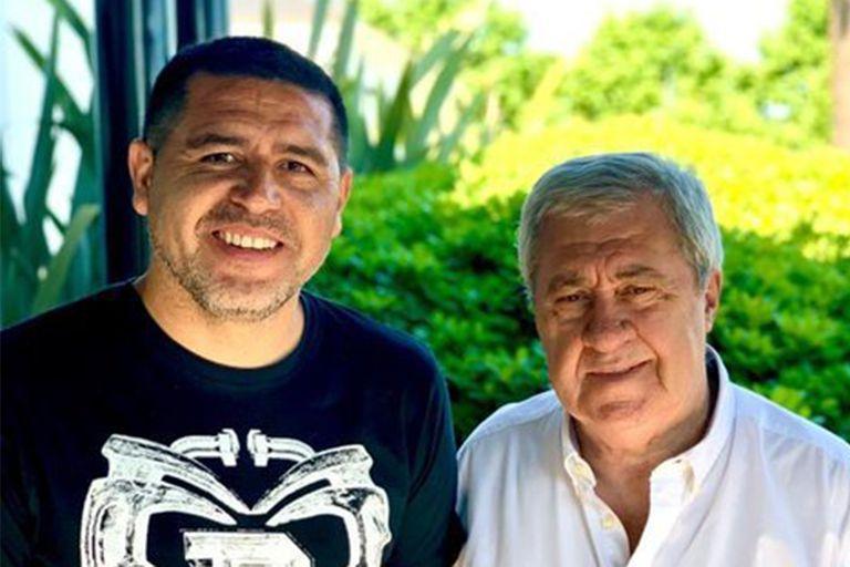 Riquelme y Ameal, dos de las caras institucionales de Boca