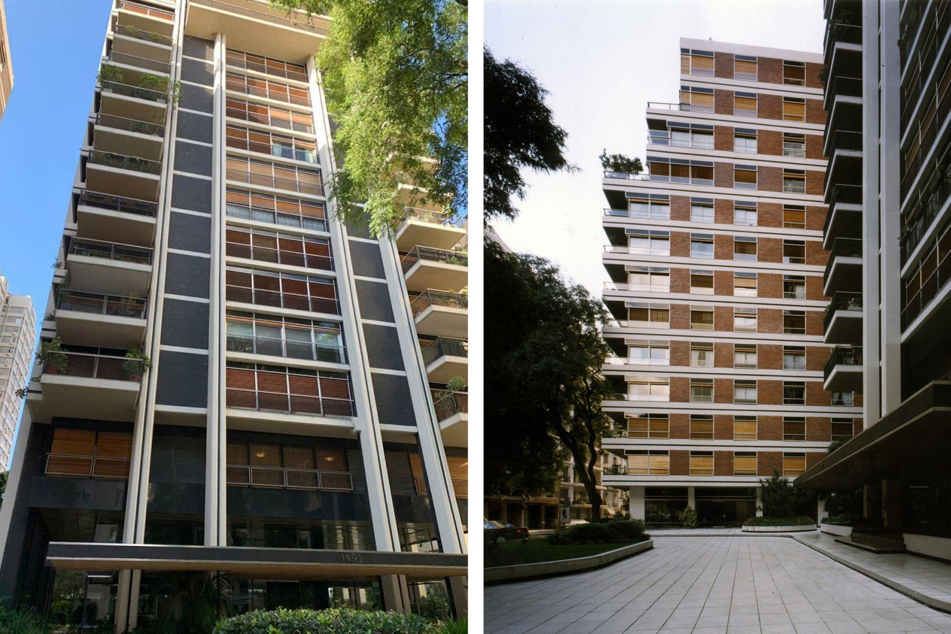 La emblemática torre del maestro de arquitectos Mario Roberto Álvarez, en la Avenida Alvear y Parera.