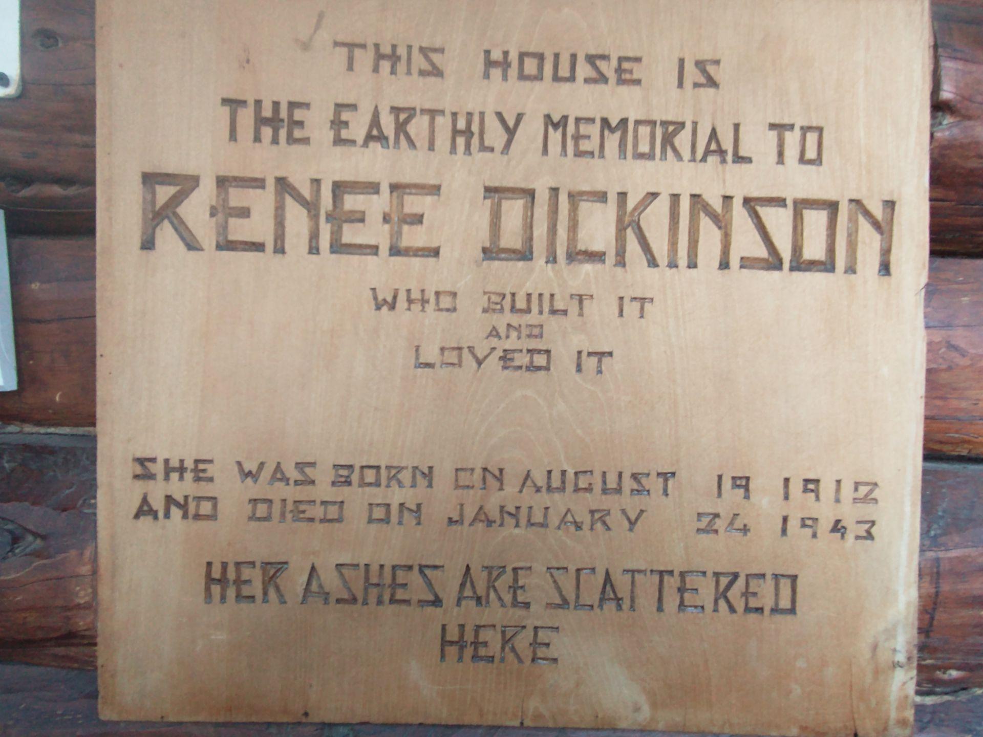 Renée Dickinson. 1912-1943.