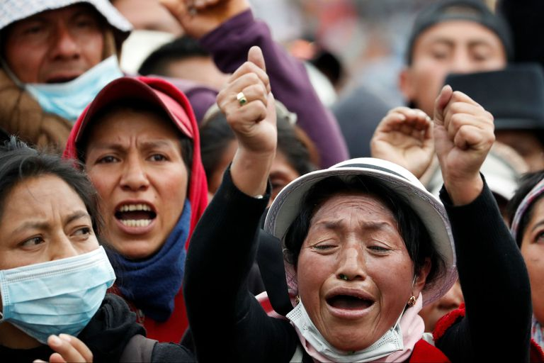 Protesta indígena en Quito