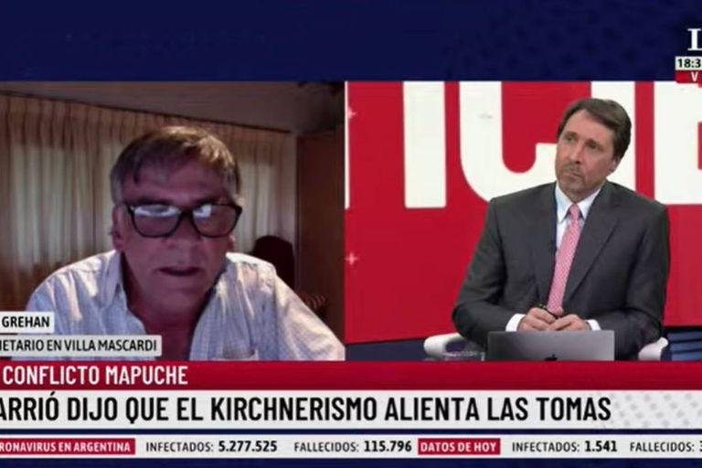 """Un vecino de Villa Mascardi, sobre el conflicto mapuche: """"Vivimos un frente de terror"""""""