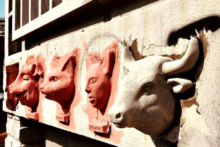 Algunas de las esculturas que se ven por la ciudad