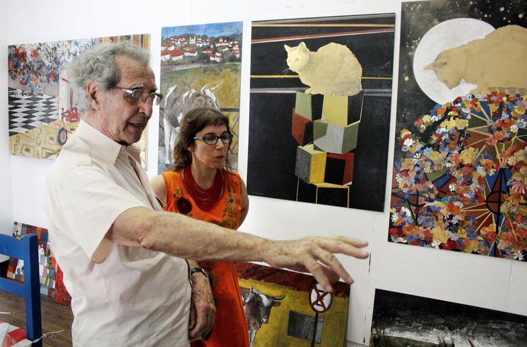 Enseñanzas: Analía Romero aprendió la encáustica del reconocido escultor. Ahora lo homenajea.