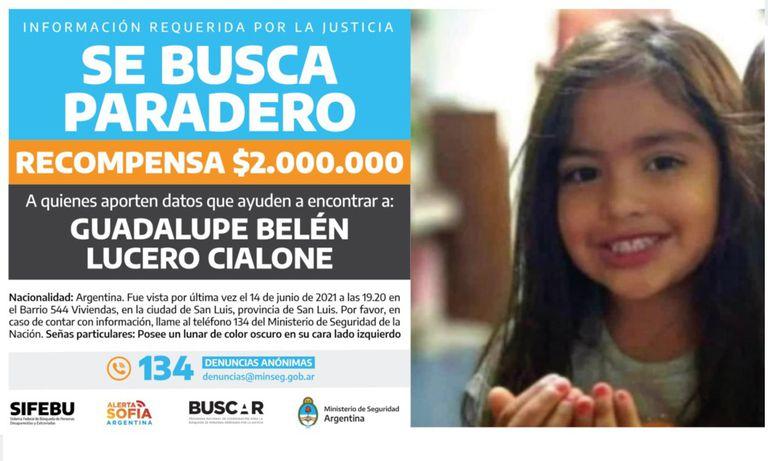 Se ofrece una recompensa por información sobre el paradero de Guadalupe