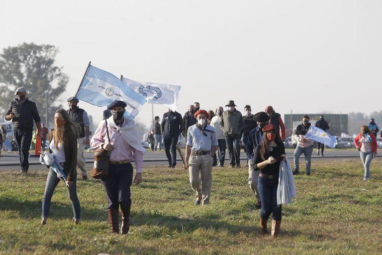 Protesta del campo en San Nicolás