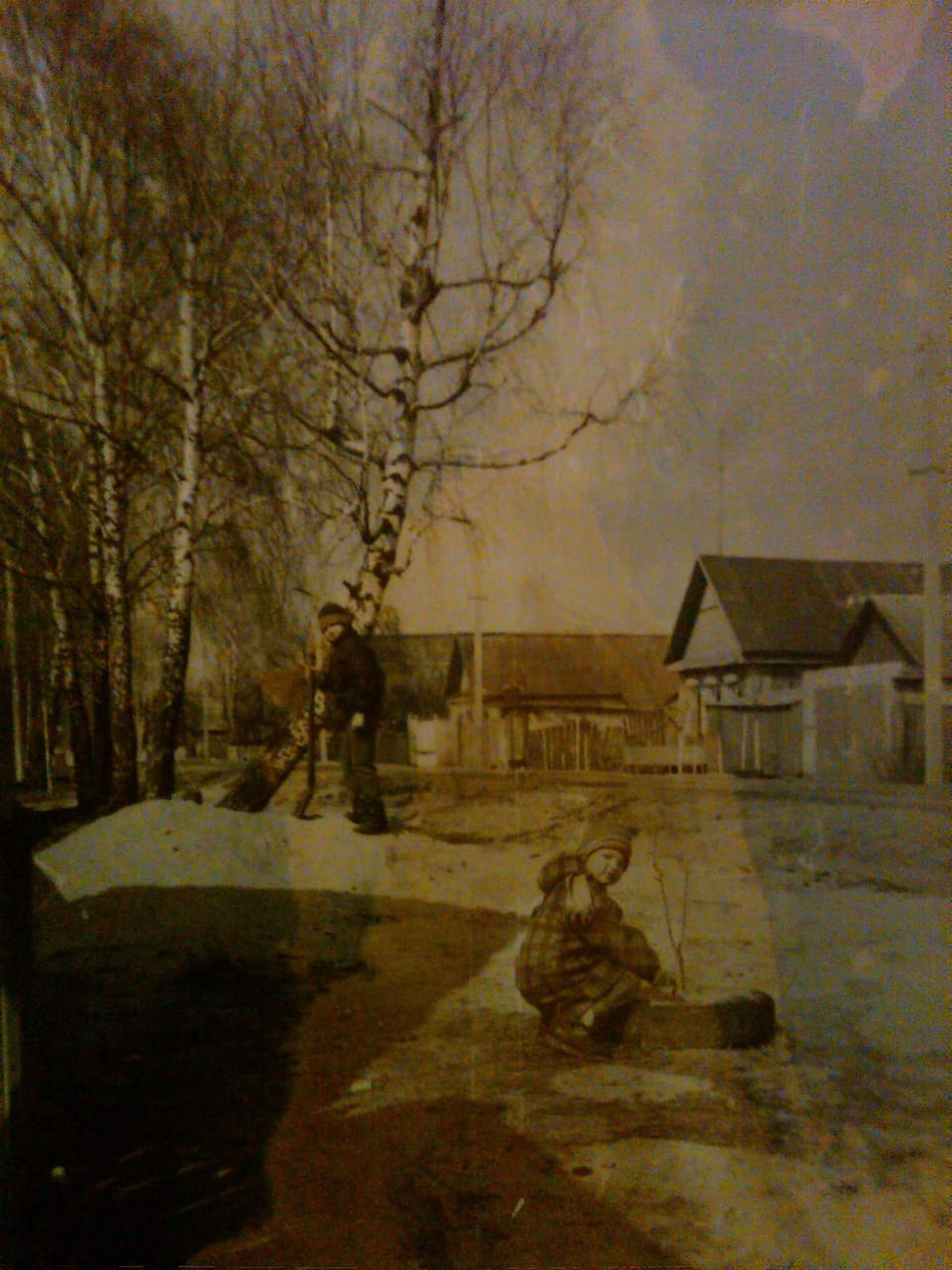 Una vieja foto con su padre