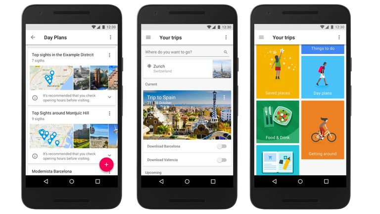 Google Trips: una aplicación para programar viajes y actividades recreativas