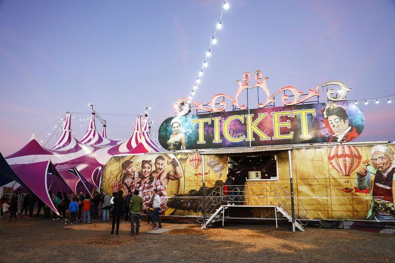 La carpa de Cirque XXI, en San Justo