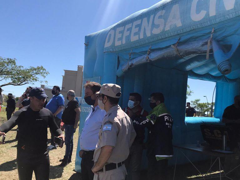 Los últimos trabajos de búsqueda previos al hallazgo de Guido Orlando, ahogado en la laguna del barrio Vistas, de Puertos de Escobar