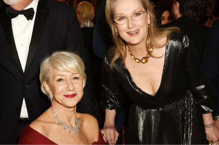 Mirren y Streep: dos potencias de la actuación se saludan