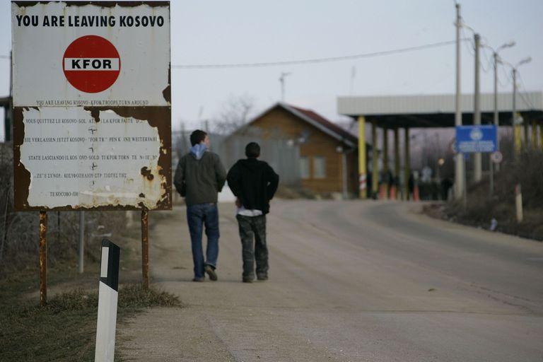 19-02-2008 Vista de la frontera entre Serbia y Kosovo POLITICA CARSTEN KOALL