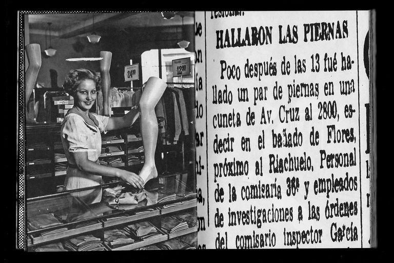 Cerutti hace una reconstrucción visual del asesinato de una mujer en los '50 a partir de recortes de noticias y fotografías