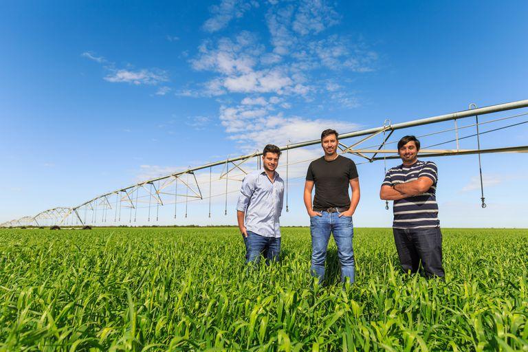 Los fundadores de Kilimo. Rodrigo Tissera, Jairo Trad y Juan Carlos Abdala