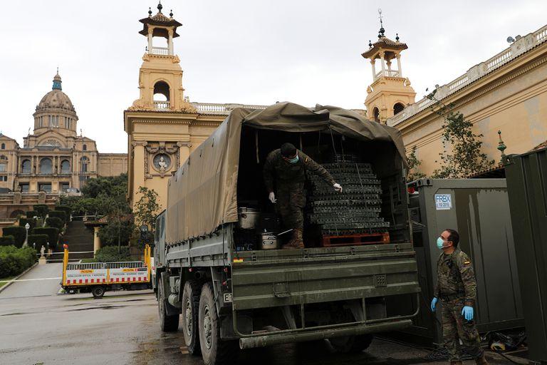 Operativos militares para controlar la epidemia en España