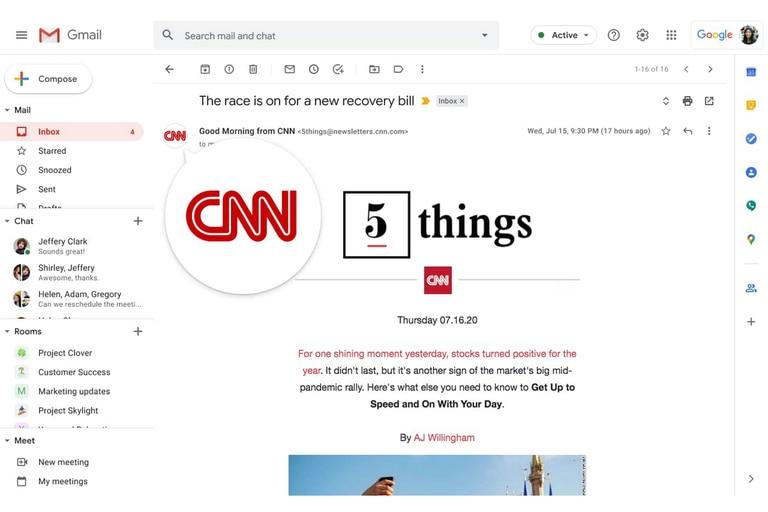Ahora Gmail tendrá una marca de verificación para los correos empresariales