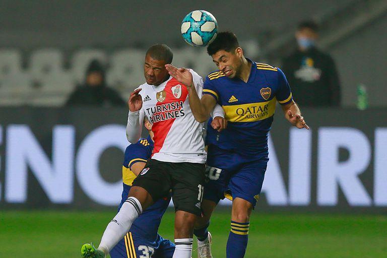 Nicolás de la Cruz, en un partido frente a Boca