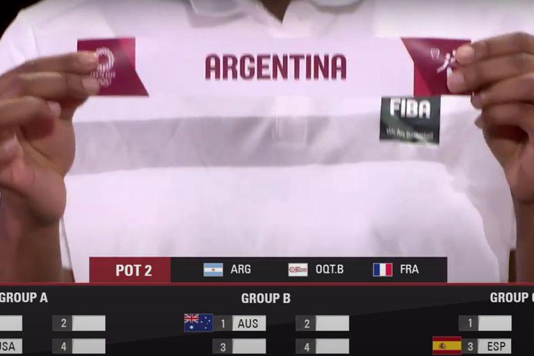 La Argentina integrará el Grupo C del torneo de básquetbol de los Juegos Olímpicos