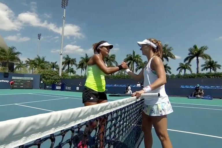 Nadia Podoroska dejó en el camino a la egipcia Mayar Sherif en el Miami Open.