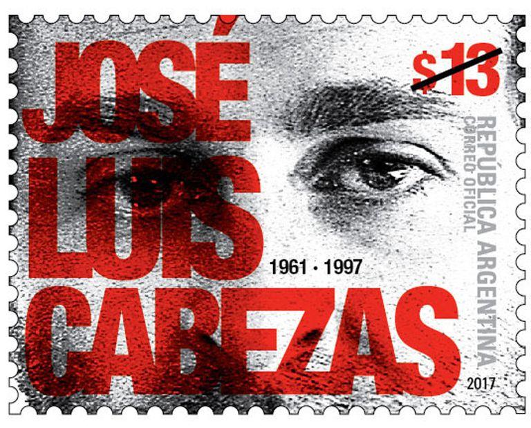 La estampilla en honor a José Luis Cabezas