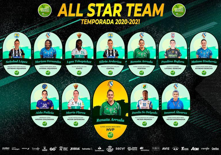 21-07-2021 Equipo de las Estrellas de la Liga Guerreras 2020-21. ESPAÑA EUROPA MADRID DEPORTES RFEBM