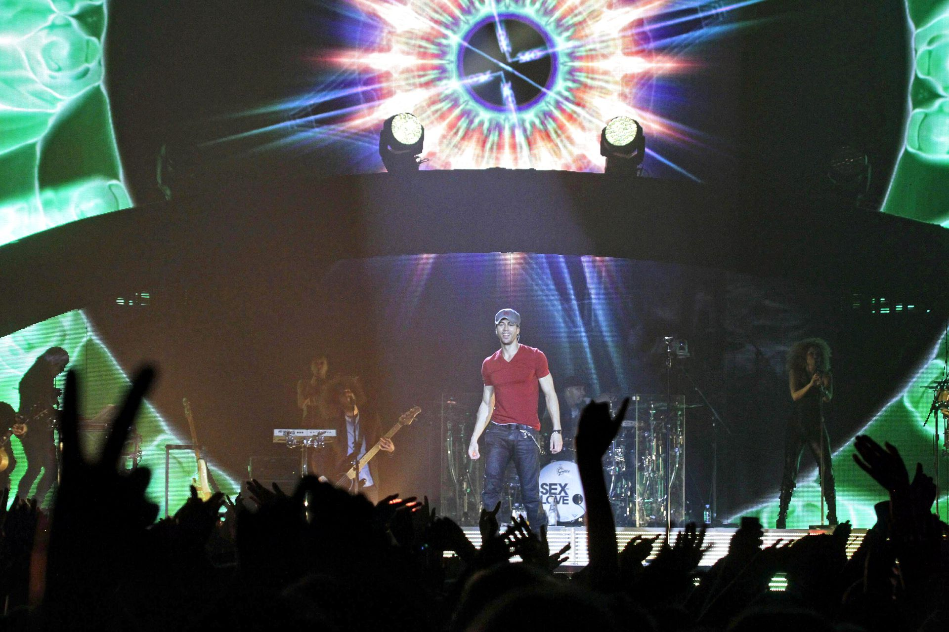 Durante el concierto en Arena Riga, Letonia, el 7 de diciembre de 2014