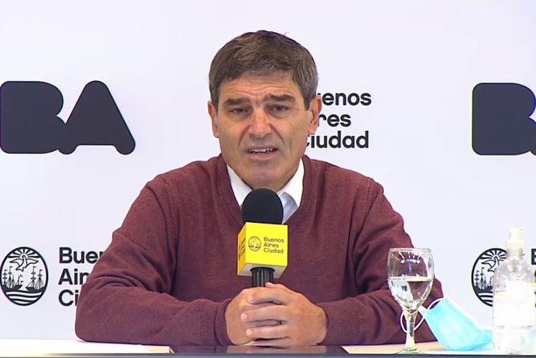 Fernán Quirós da el reporte sobre la situación epidemiológica en la ciudad de Buenos Aires