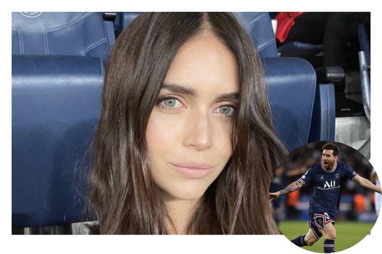 Zaira Nara grabó un momento especial para Leo Messi en la cancha del PSG