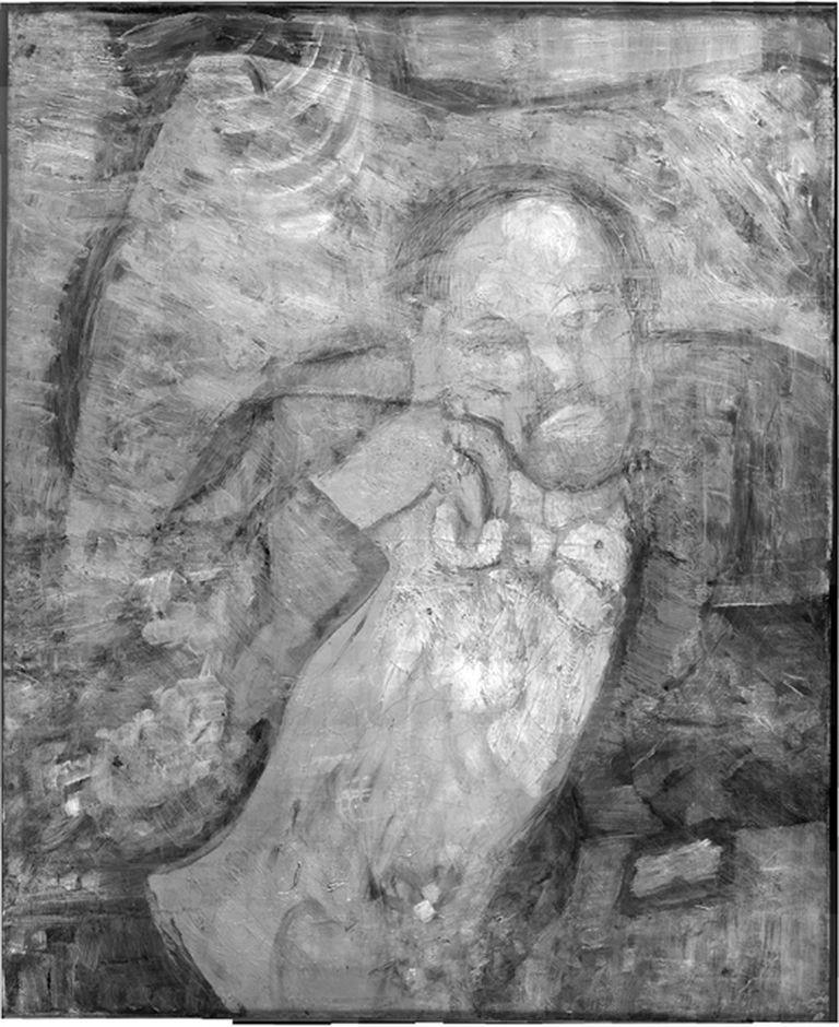 El cuadro La habitación azul de Pablo Picasso sometida a rayos infrarrojos ha mostrado bajo la pintura conocida otra muy diferente