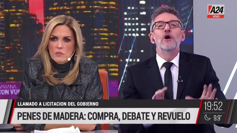 El pase entre Viviana Canosa y Luis Novaresio