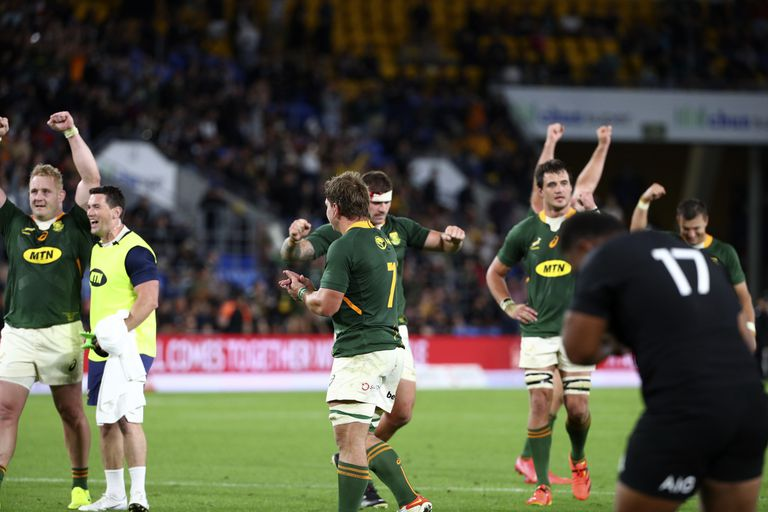 Rugby Championship: Sudáfrica venció a los All Blacks en la última jugada y le quitó el invicto en el torneo